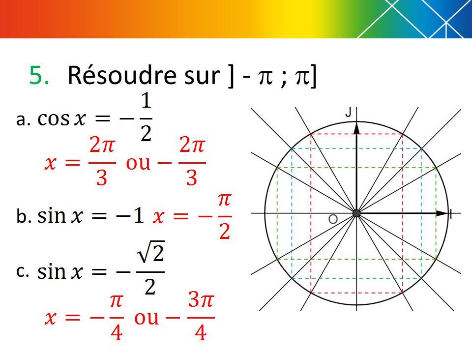 Résoudre sur ] -  ; ] a. b. c.